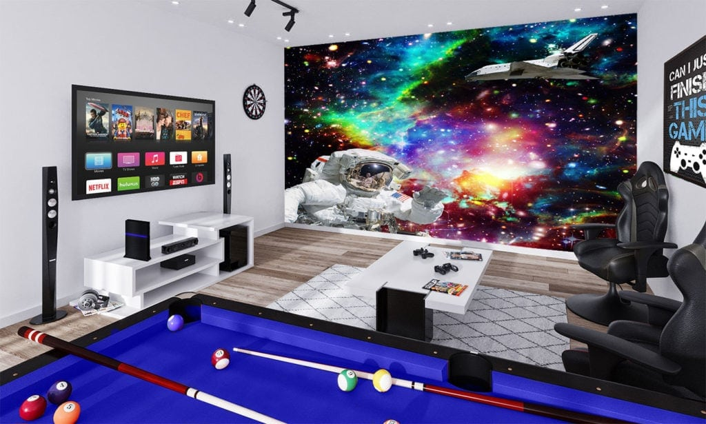 science fiction and universe wallpaper mural art