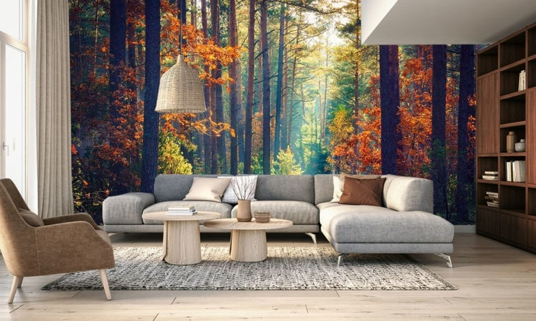 forest wall mural art