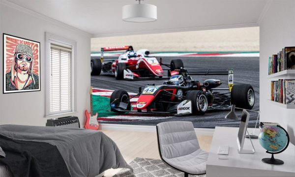 Single Seater Racing Cars Wallpaper Murals
