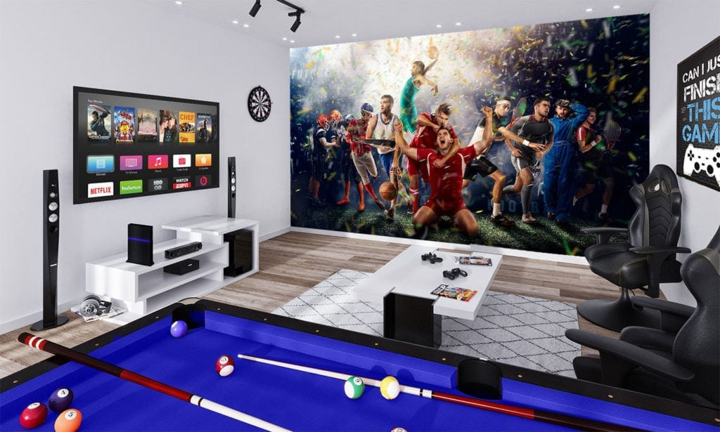 Sports Montage Wallpaper Mural