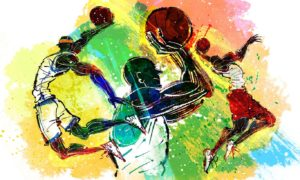 Basket Ball wall Art