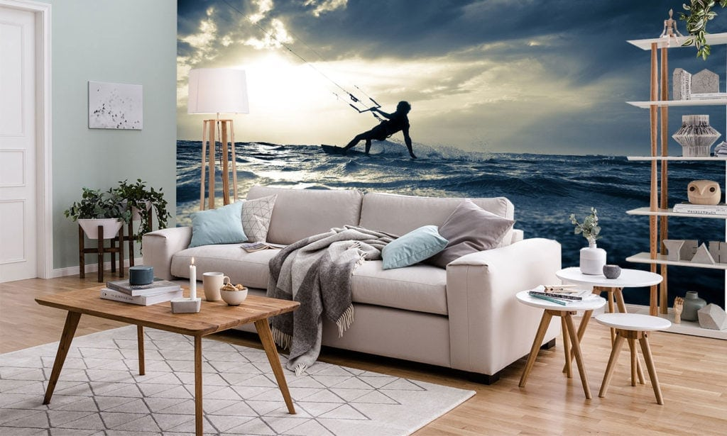 Kite Surfing Wall Mural