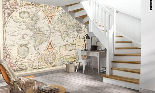 shop by room - hallway wallpaper murals