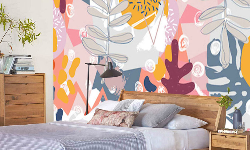 Abstract Leaves Wall Mural