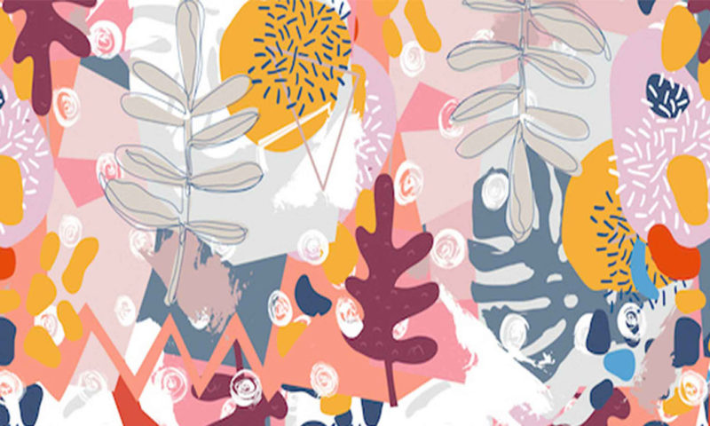 Abstract Leaves Mural Wallpaper
