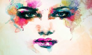 Abstract Portrait Of A Woman wallpaper mural