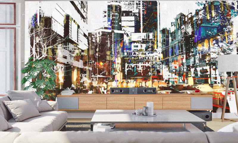 Abstract City Scape mural