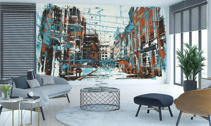 Downtown New York City Scape wall art