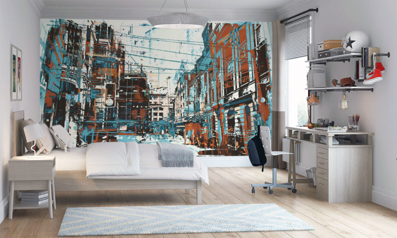 Downtown New York City Scape Mural wallpaper