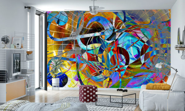 Colourful Musical Abstract Wallpaper