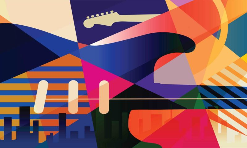 Colourful Musical Abstract Mural
