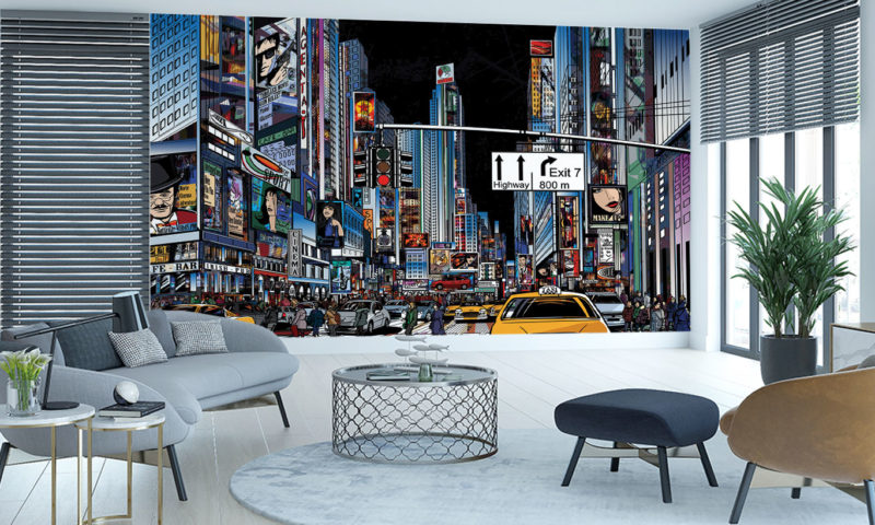 New York City Scape Wall Mural