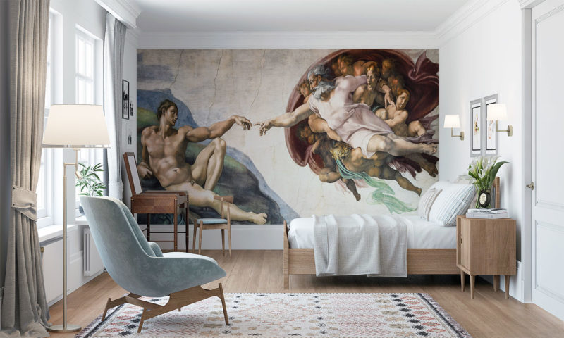 The Creation Of Adam By Michelangelo Wall Art