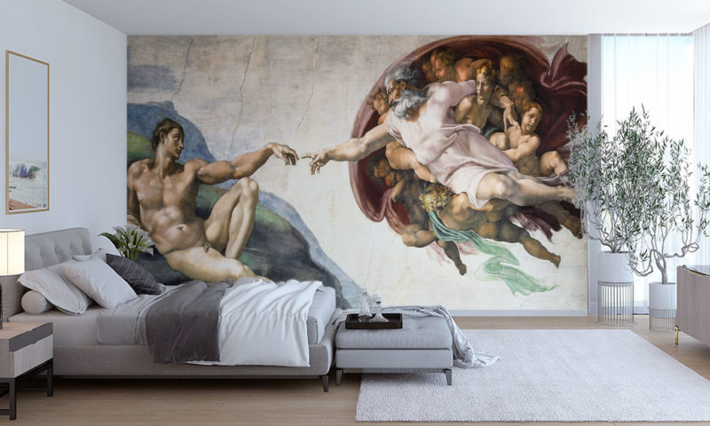 The Creation Of Adam By Michelangelo Mural Wall Mural
