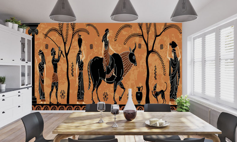 Ancient Greek Wine Carrier Wall Mural