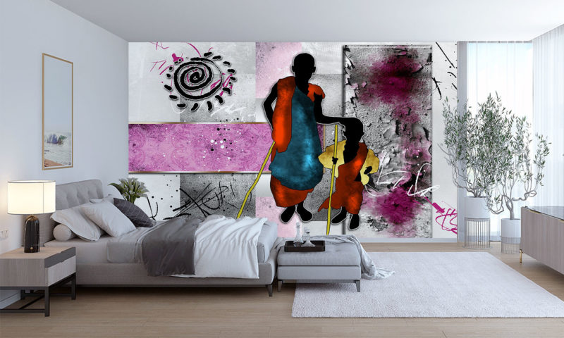 African Parent & Child Wall Mural
