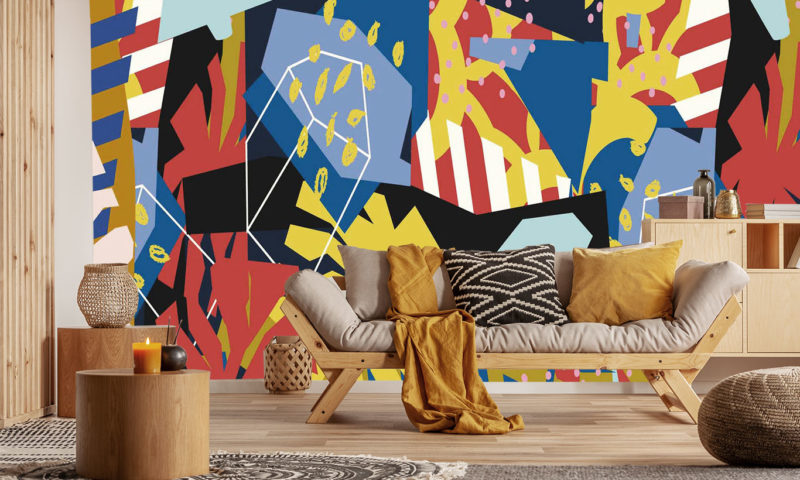 Colourful Shapes Mural Wall Art