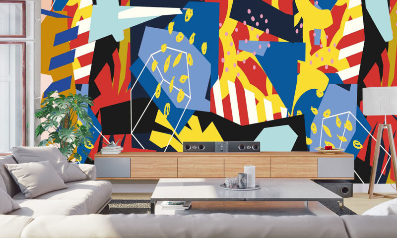 Colourful Shapes Wall Mural