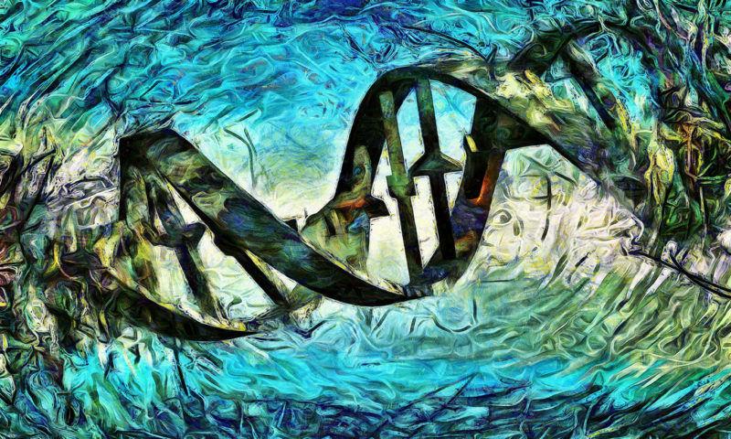 DNA Strand Wall Mural