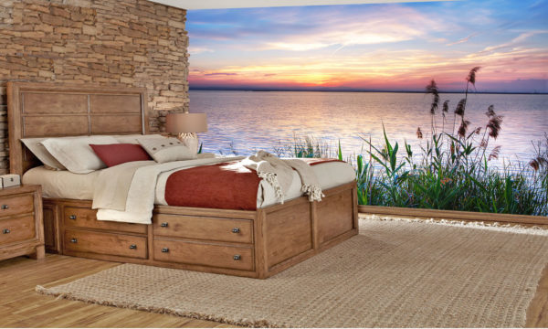 Peaceful Edge Of The Water Sunset Wall Art