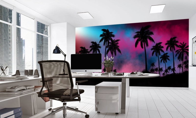 Night Landscape Tropical Forest Wall Art