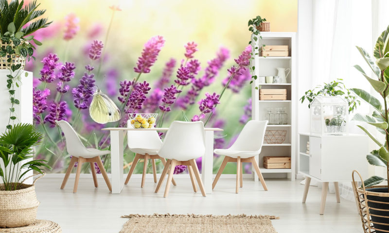 Gentle Butterfly On Lavender Photo Mural