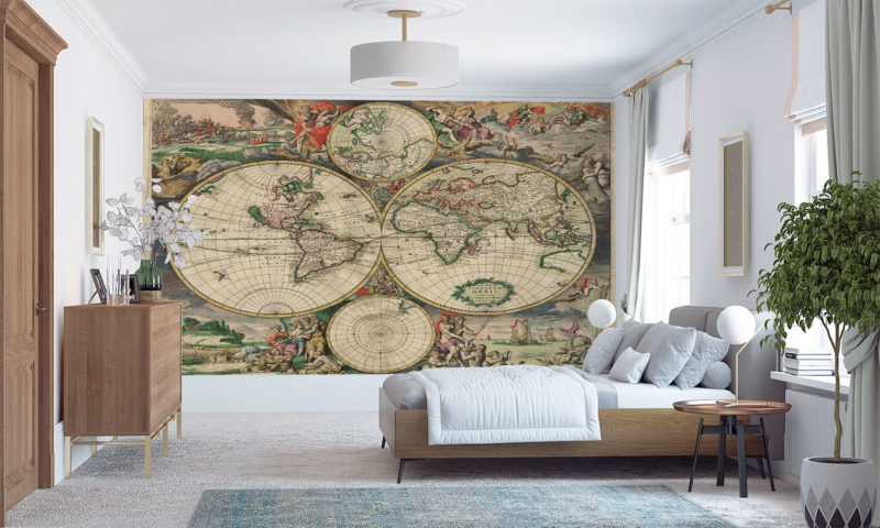 Old Map 1689 Wall Art