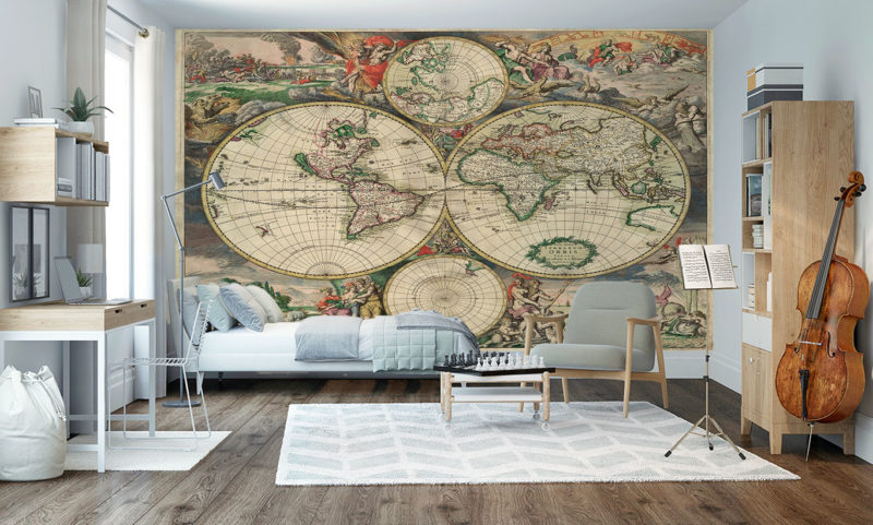 Old Map 1689 Wall Mural