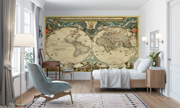 Map Of The Ancient World Mural Wallpaper
