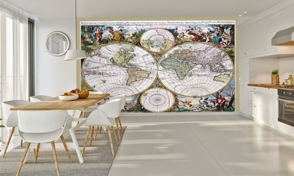 Antique Map From 1686 Mural Wallpaper