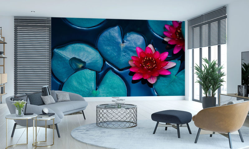 Red Lotus Lily Wall Art