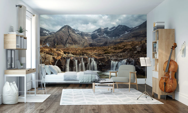 Fairy Pools Waterfall & Mountains Of Black Cuillin Wall Art