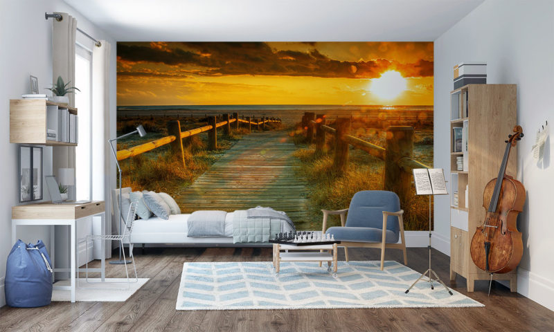 Sunset Over The Sea Wall Art