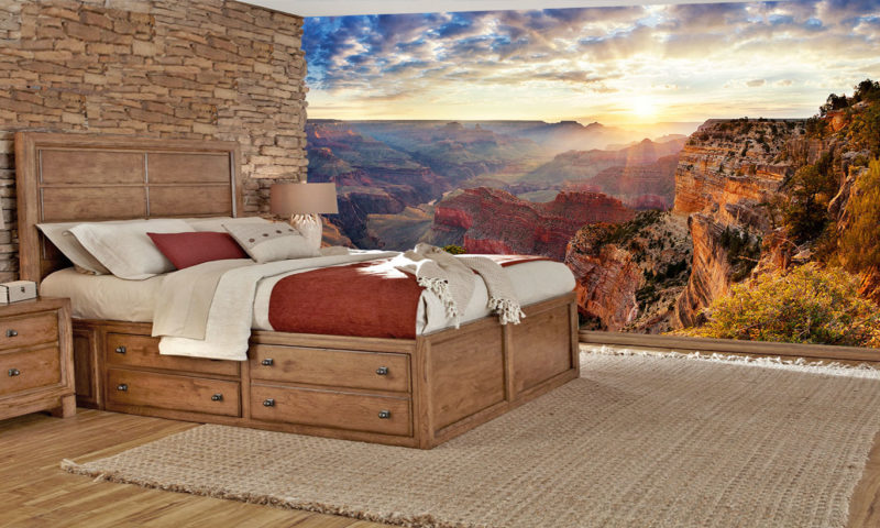Sunrise At The Grand Canyon Mural