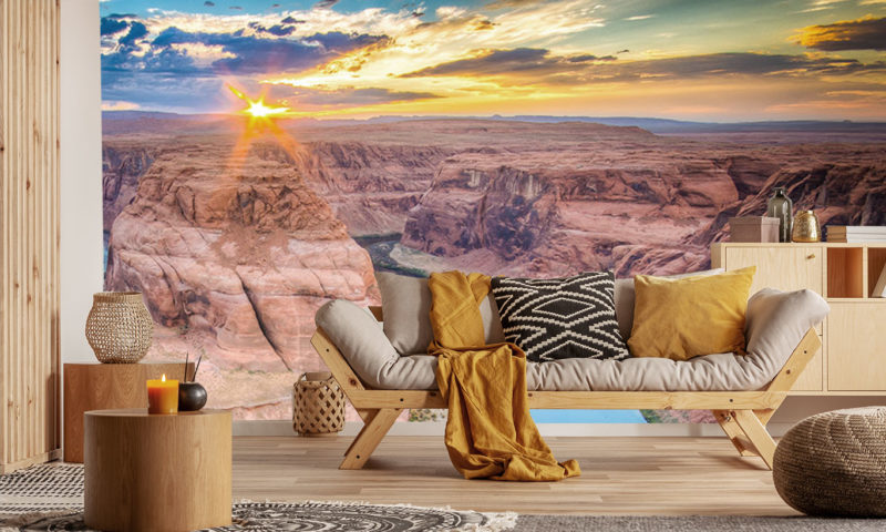 Sunset On The Canyon Wallpaper