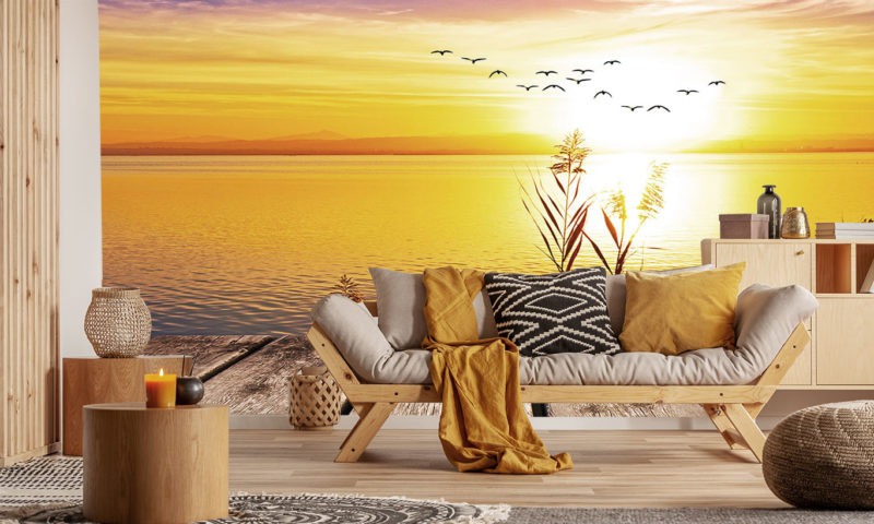 Chilled Out Sunset Mural Art