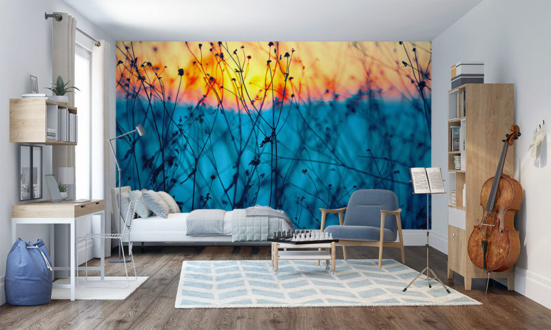 Abstract Wild Flowers Wall Art