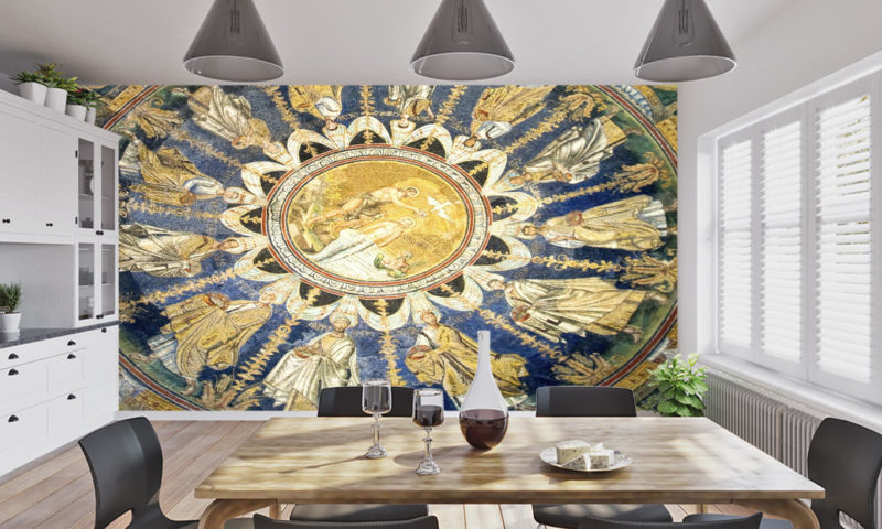 UNESCO World Heritage The Baptistry of Neon Wall Mural