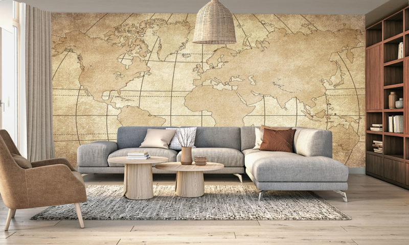 Old Vintage World Map Wall Mural