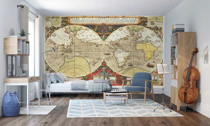 Ancient Map of the World Wall Mural
