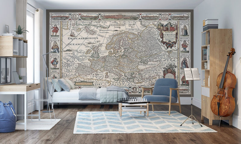 17th Century map of Europe Wall Art