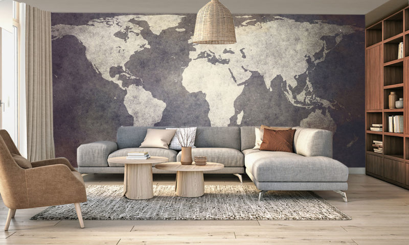 Classy Old World Map Wallpaper