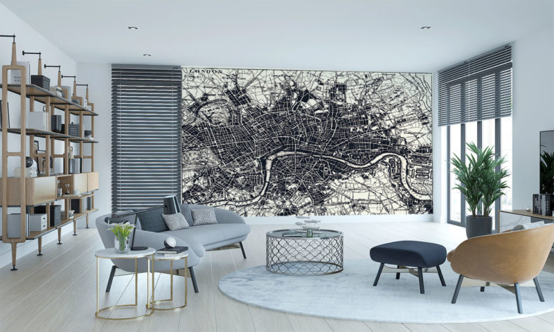 Historical Map of London Wall Mural