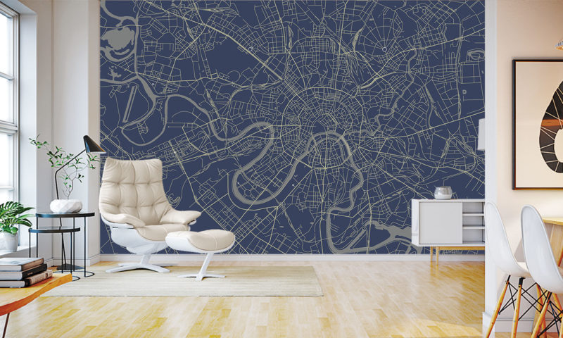 Moscow Map Mural