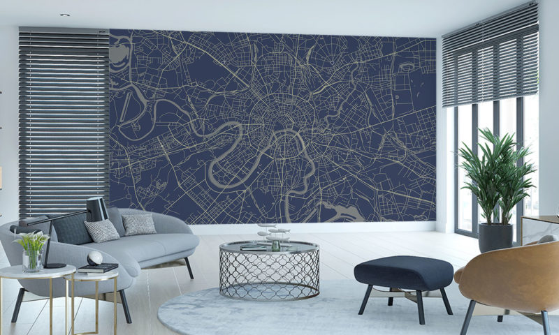 Moscow Map Wall Art
