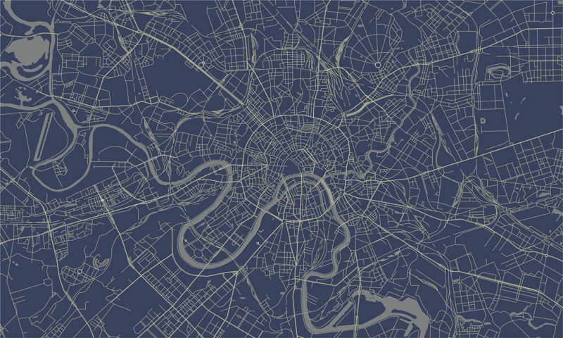 Moscow Map Wallpaper