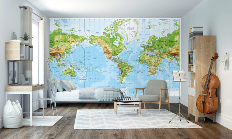 The Planet Wall Mural