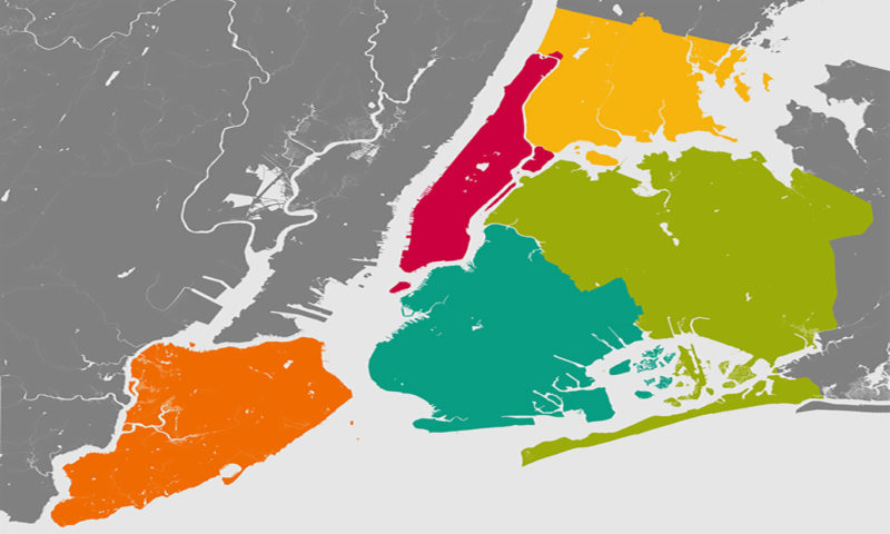 New York Abstract Map Mural
