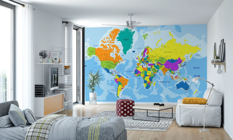 Countries Map Wallpaper