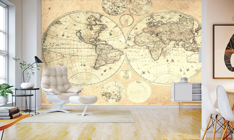 Old World Map Wallpaper